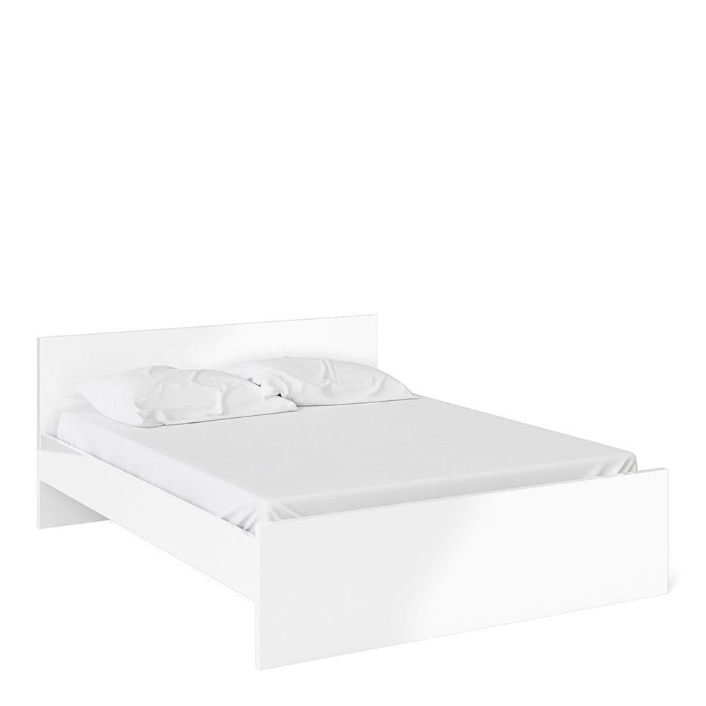 Enzo Euro King Bed (160 x 200) in White High Gloss